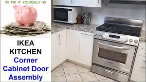 kitchen corner cabinet hinges ikea kitchen corner cabinet door installation