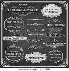 chalkboard ornaments ribbons vector format stock vector 255157030