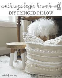 Dash Of Darling Home Tour by Diy Knock Off Anthropologie Fringed Pillow A Dash Of Mum