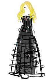 oscar de la renta does toile fashion illustration a thing