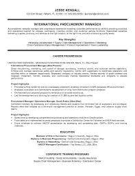 procurement resume cv procurement manager army franklinfire co