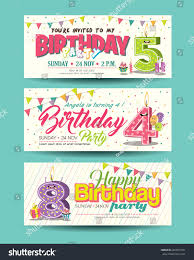 Birthday Party Invitation Card Birthday Party Invitation Card Funny Character Stock Vector