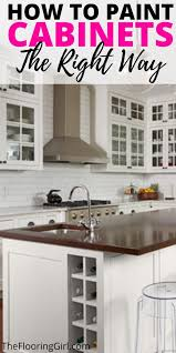what is the best way to paint cabinet doors how to paint cabinets the right way painted kitchen