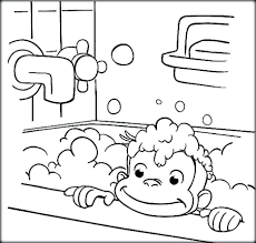 curious george coloring book 1 batting tab pages free print