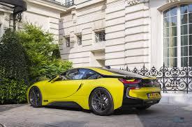 Bmw I8 Yellow - austin yellow bmw i8 rear three quarters hybrid supercar