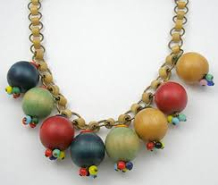 large wood bead necklace images Miriam haskell wood bead necklace garden party collection jpg