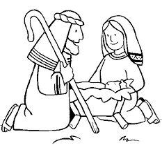worshipping baby jesus coloring page coloringcrew com
