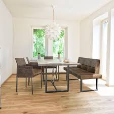 contemporary dining table solid wood steel rectangular