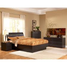 King Platform Bed Set Nightstands Low Profile Platform Bed Platform Bed With End Tables
