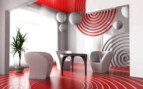 super modern red living room decor ideas with nice floor tile