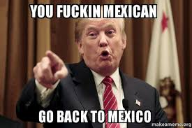 Memes Mexico - you fuckin mexican go back to mexico donald trump says make a meme