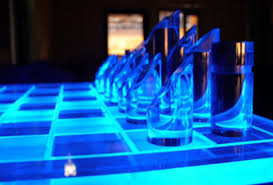 glowing chess set neatorama