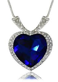 necklace titanic images Buy youbella gold plated crystal heart titanic pendant necklace jpg