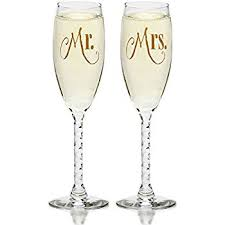 wedding glasses mr mrs gold wedding chagne flute glasses