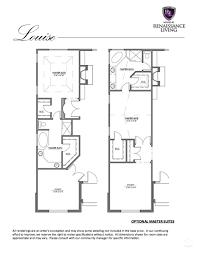 renaissance homes floor plans the louise renaissance living llc