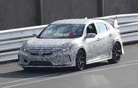 first look at 2017 civic type r hatchback prototype spy pics