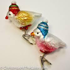 bird ornament christmas at the lake