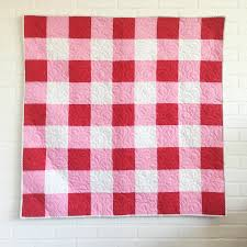 How To Sew A Flag How To Make A Gingham Baby Quilt Simple Simon And Company