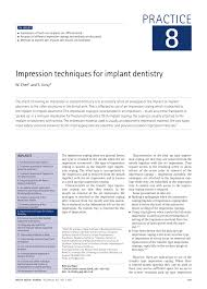 impression techniques for implant dentistry pdf download available