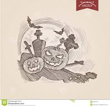 halloween web template halloween handdrawn pumpkins on graveyard bat engraving template