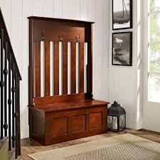 crosley ogden mahogany hall tree cf6001 ma the home depot