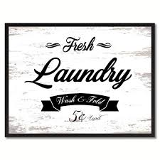 online store fresh laundry vintage sign white canvas print home
