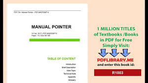 manual pointer video dailymotion