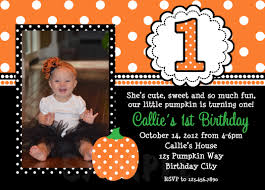 halloween 1st birthday invitations invitation card theme ideas