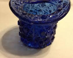 Antique Cobalt Blue Vases Blue Cut Glass Etsy