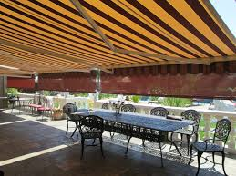 Roll Up Patio Screen by Motorized Retractable Awnings Ers Shading San Jose