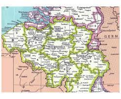 physical map of belgium maps of belgium detailed map of belgium in tourist map