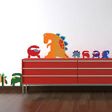 dinosaur wall stickers patterned dinosaurs wall sticker set