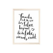 familie sprüche artprint familie ist karton papier karton und oberfläche