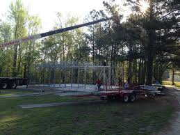 when do i need a crane or lift for my custom metal building