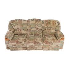 Patterned Loveseats 82 Off Patterned Fabric Recliner Sofa Sofas