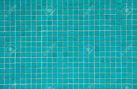 blue mosaic tiles texture with white filling stock photo picture