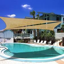 Swimming Pool Canopy by Amazon Com Ollieroo Shade Sail Uv Block Fabric Patio Outdoor
