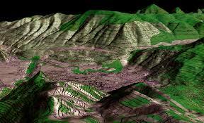 topographic map of aspen co draped on digital elevation model