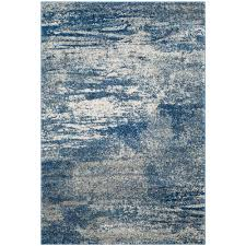 Safavieh Rugs Safavieh Evoke Navy Ivory 8 Ft X 10 Ft Area Rug Evk272a 8 The