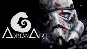 dead stormtrooper star wars speed painting digital illustrator
