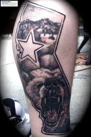 california state tattoos california flag designs