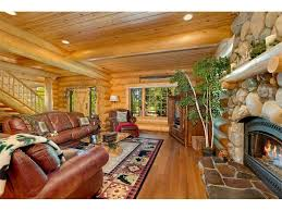 grand log cabin style home in gated community and walking