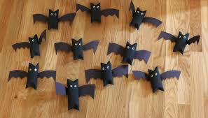 Halloween Crafts Made Out Of Paper by Chemknits Toilet Paper Roll Bats