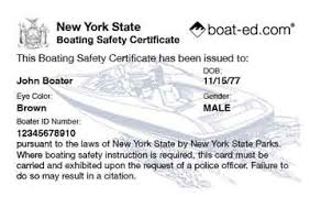 new york boater education cards certificates boat ed
