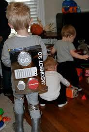 robot costume warm chocolate