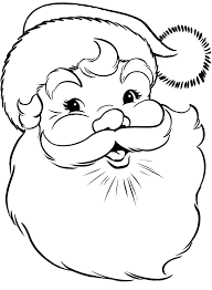 santa face coloring pages getcoloringpages