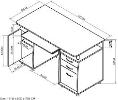 brilliant office desk dimensions also fresh home interior design