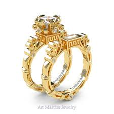 white gold engagement ring yellow gold wedding band masters caravaggio 14k yellow gold 1 5 ct princess white