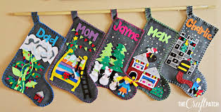 the craft patch fairy tale felt christmas stockings
