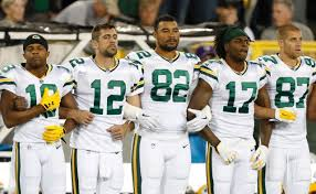 packers bears stand during anthem before nfl game fox news